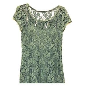 Italian custom made lace dress - Size 8